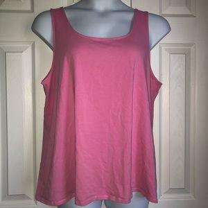 J. Jill Plus Size Pink Tank Top
